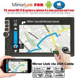 7/'/' Inch Double 2DIN Car Radio Video Stereo Mirror Link for Android iOS GPS Navi