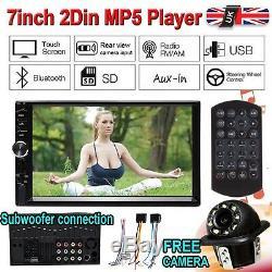 7 Double Car Radio Stereo MP5 MP3 Player 2Din Bluetooth FM AUX USB Head Unit UK