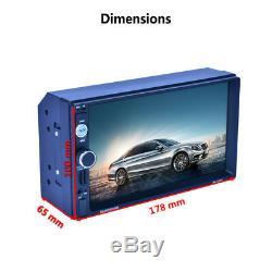 7 HD 2Din Car Radio MP5 Player Bluetooth Touch Screen GPS Navigation USB FM+MAP