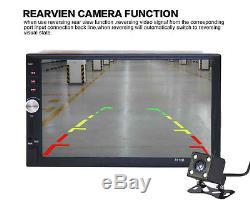 7'' HD Screen Car Bluetooth Radio Audio Stereo MP5 MP3 Player + Rear View Camera