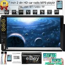 7Double 2DIN Multimedia MP3 NP5 Player Car Stereo Radio HD BT In Dash Bluetooth