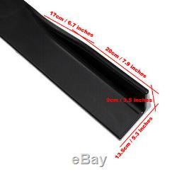 86 Universal Black Car Side Skirt Extension Rocker Panel Splitter Protector Lip