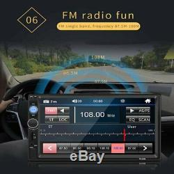 Bluetooth Car Radio Stereo 7 Inch Double 2DIN FM USB/MP5 Player Touch Screen AUX