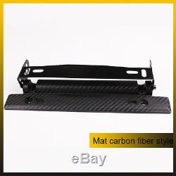 Carbon Fiber Style Adjustable Number Car License Plate Frame Holder Car Racing