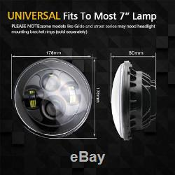 DOT E Approved 7 inch LED headlights x2 for Land Rover Defender RHD 7 90 110