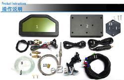 Dashboard LCD Screen Rally Gauge, Dash Race Display DO904 DPU Full sensors