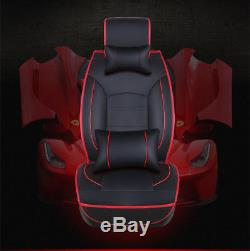 Deluxe 7 PCS Seat Cover Leather Full Set Cushion 5-Seats Car Seat Accessories