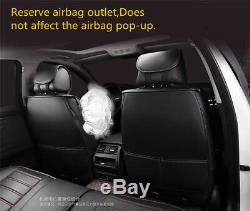 Deluxe Edition Seat Cushion PU Leather Car Seat Covers Full Set For Four Seasons