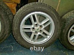 Discovery 2 td5 p38 range rover set 5x18 inch wheels and goodyear wrangler tyres