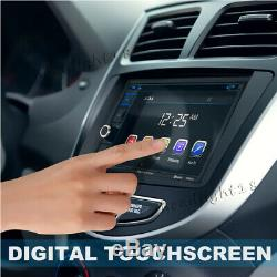 Double 2 DIN 6.2INCH Touch Screen Car DVD HD Player Stereo Radio witho GPS Sat Nav
