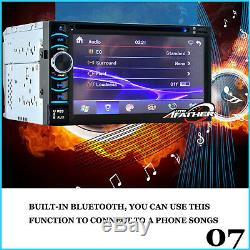 Double 2 DIN HD 6.2 Touch Screen Car DVD Player for GPS Sat Nav Stereo Radio UK