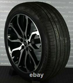 Genuine 21 Range Rover Sport Black & Cut 5007 Alloy Wheels Pirelli Tyes TPMS 4