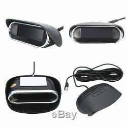 Good Quality Dual LCD Display 8 Black Parking Sensors Reverse Radar Alarm Buzzer
