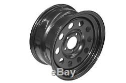 Grw012 Set Of 4 Steel Modular Wheels Black For Land Rover Discovery 2 1998-2004