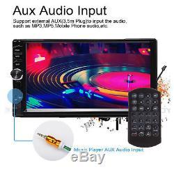 HD Touch In Dash Car Stereo MP5 Player 7 Bluetooth FM Radio TF/USB 2 Din+Camera