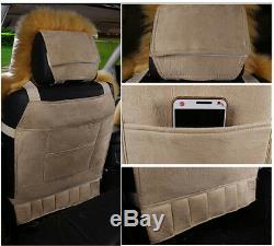 Hot 138cm 63 cm 2 Front Seat Cover Warm Winter Automobile Decoration 2 PCS