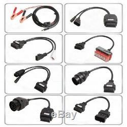 Hot 8PCS Car Cables + OBD2 Diagnostic Tool Bluetooth TCS CDP Pro Plus