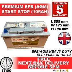 JAGUAR LAND ROVER RANGE ROVER 019 Car Battery VRLA AGM EFB 105AH S5A13 S5A15 100