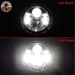 LED Headlights Land Rover Defender 90 110 RHD + LHD E MARKED 7 Inch H4