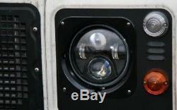 Land Rover Defender 7 Inch LED headlights x2 DOT E Approved SUV UK/EU 734B