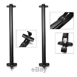 Lockable Anti Theft Roof Bars Universal Fit For Cars No Rail Rack Locking Bar UK