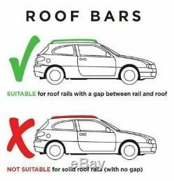 Locking Aluminium Car Roof Bars Rack 1.35M & 320L Roof Box For Raised Rails