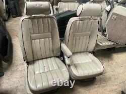 Lot28 RANGE ROVER P38 Manual Leather Seats Cream Red Piping VW Bus Camper