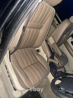 Lot4 RANGE ROVER P38 Electric Leather Seats Elecric Tan With Cream Piping