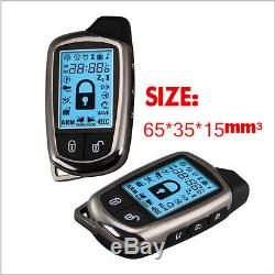 NEW 2 Way Car Alarm Security System + LCD Super Long Distance Control Anti-theft