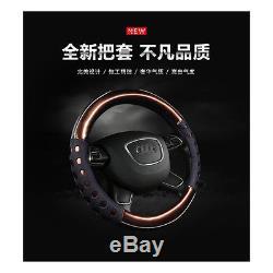 NON SLIP PU Steering Wheel Case Car 38CM Steering Wheel Cover-Leather Purple