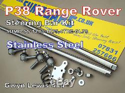 P38 Range Rover Heavy Duty steering bars Stainless Steel + Damper Mount SUMOBARS