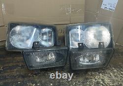 RANGE ROVER P38 Front Light Lens Up Grade 2002 Lamps Set 2x Fogs 2 Lens