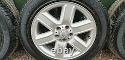 RANGE ROVER VOGUE L322 19 ALLOY WHEELS and TYRES 255/55/19 DISCO 3 P38
