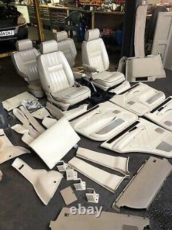 Range Rover P38 2.5 4.0 4.6 Cream 5 Bar Leather Interior Seats Upgrade 94-02