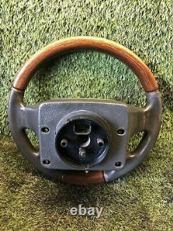 Range Rover P38 2.5 4.0 4.6 Genuine Walnut & Black Steering Wheel 94-02 Upgrade