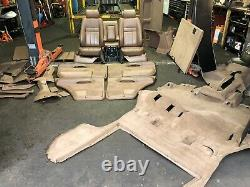 Range Rover P38 2.5 4.0 4.6 Tan Manual Leather Interior Seats Vgc Rare 94-02
