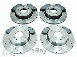 Range Rover P38 Front & Rear Drilled & Grooved Brake Discs Mintex Pads Set New