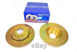 Range Rover P38 Performance Front Vented Drilled & Grooved Brake Discs DA4603