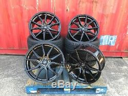 Range Rover Sport Vogue Discovery set 4 22 inch Alloy Wheels TYRES SPYDER BLACK