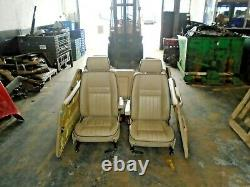 Range rover p38 cream leather manually operated seats and door cards