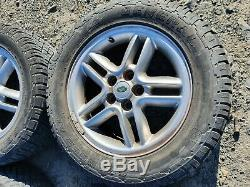 Range rover p38 hurricane wheels with general grabber tyres