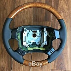 Range rover p38 steering wheel IN WALNUT finish and new NAPA leather