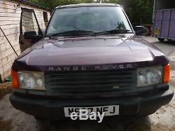 Rare Classic Range Rover Dt Model 2.5l Manual P38 With Coil Spring Suspension
