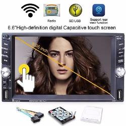 Touch Screen Mp5 Mp3 with Rear Camera Bluetooth Charger TF Aux Radio Hands-free