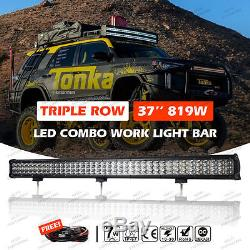 Tri Rows LED Combo Work Light Bar 37INCH 819W Offroad Driving Lamp 4WD ATV BOAT