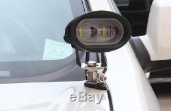 Universal 2x A Pillar Hood Led Work Light bar Mount Bracket Clamp Holder Offroad