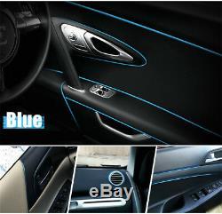 Universal Blue Edge Gap Line Car Interior Accessories Molding Garnish 5M FK