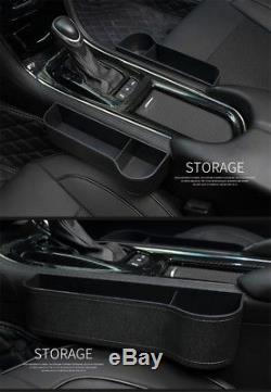 Universal Car Seat Crevice Gaps Storage Box Organizer Black Interior Accessories