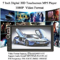Universal Car Van Stereo Radio Double 2 Din Radio Bluetooth FM AM AUX USB&Camera
