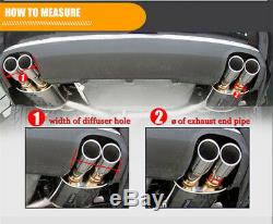 Universal Glossy 100%Real Carbon Fiber Twin Double Exhaust Pipe Muffler Tail Tip